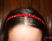 Circle Beaded Headband (Variety of Colors)