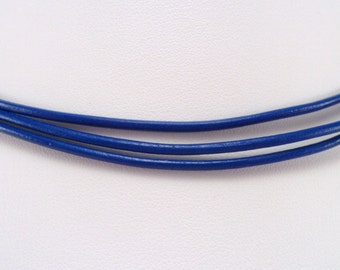 3 strand 2mm genuine Greek leather cord necklace sterling silver ends & lobster clasp - you pick length and color