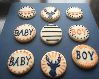Baby Shower Sugar Cookies.