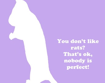 Nobody is Perfect Rat Decal