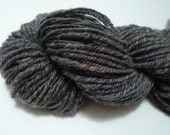 Grey handspun yarn, Double knitting weight, 10 wpi, pure wool yarn, navajo plied yarn, CIJ, Christmas in July