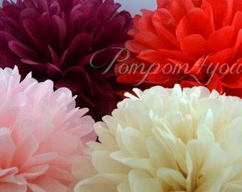 7 Tissue Paper POM POMS // Wedding Pom Poms // Paper Pom Poms // Wedding Decor // Baby Shower // Bridal Shower // Nursery