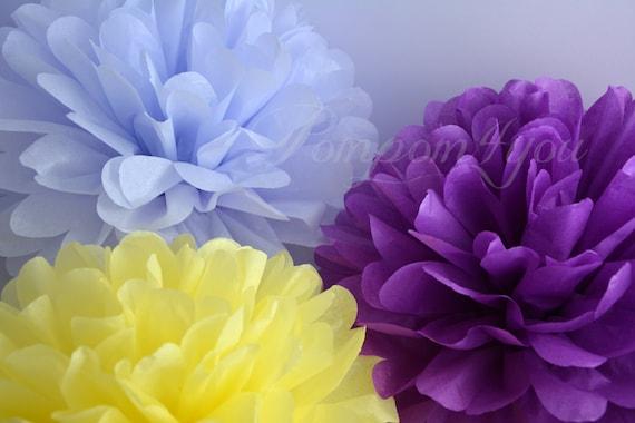60 Tissue Paper POM POM Set + 5 FREE Pom Poms // Wedding Decorations // Nursery Decorations // Party Decorations // Choose your Colors