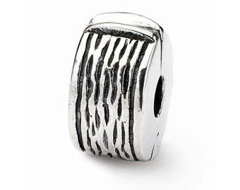 Sterling Silver Hinged Clip Bead
