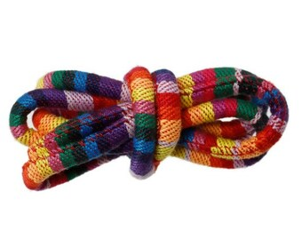 Multicolored Fabric Rope - African Rope Necklace - Bohemian Cord for Making Jewelry