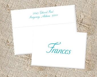 Fun Script Stationery - 25 notes & envelopes