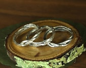 Three Bittersweet Vine Stacking Rings in Sterling Silver