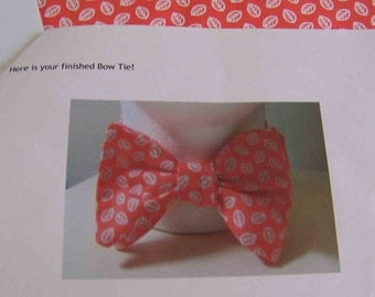 Men's Peach Bow Tie - Freestyle Bow tie - Adjustable