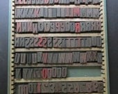 "ONE Vintage Letterpress Letter Number Punctuation Mark 1"" Block Printing Block Your Choice"