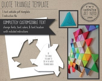 Editable Quote Triangle Template - PDF - Instant Download