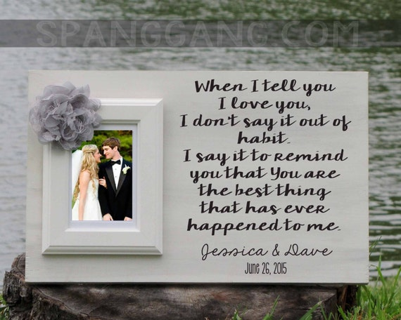 Wedding gift for bride, groom, husband, wife. Personalized photo Frame ...