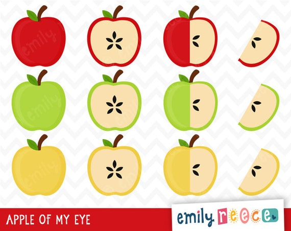 80% OFF SALE Apples Red Green Yellow Fruit by ...