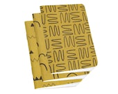 Cool Notebooks - 3-Pack Small Sketchbooks - Gold Ochre