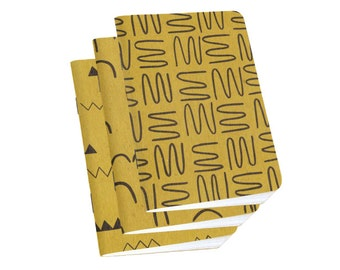 Cool Notebooks - 3-Pack Small Sketchbooks - Gold Ochre