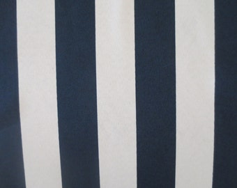 OUTDOOR Pillow Cover in a Navy Blue and Off White Stripe Print
