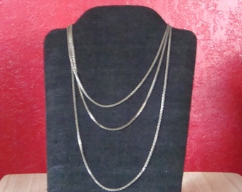 Layered Vintage Silver-tone Necklace