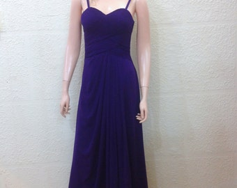 Blue Bridesmaid Dress. Prom Dress. Maxi Dress.