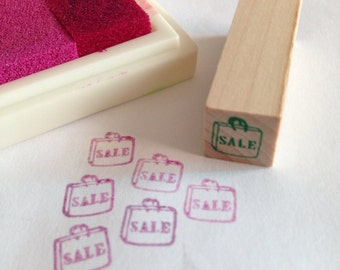 A mini Wooden Rubber Stamp: Sale