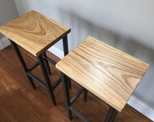 Black Ash Wood Bar Stools - Handmade in Denver