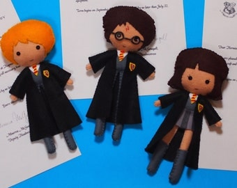 Harry Potter Inspired Felt Figure - Your Choice of Character Made to Order