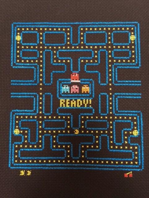Pacman Video Game Cross Stitch And Backstitch Pattern Pattern