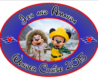 Disney Cruise magnet Custom Personalized Mickey Minnie Alaska Oval Disney Cruise Line Stateroom Door Magnet