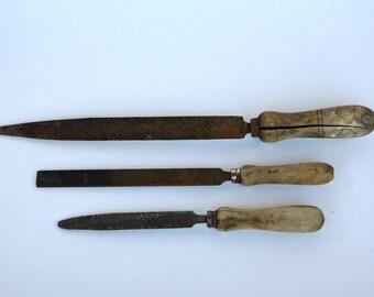Antique Italian woodworker's files