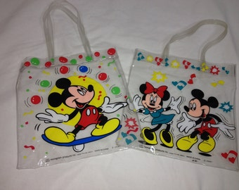 pair of mickey mouse bags