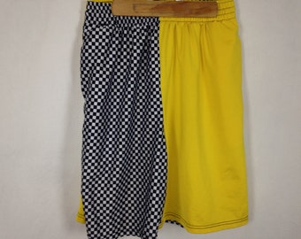 yellow n checkered shorts size M