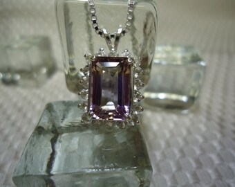 Bolivian Ametrine and Topaz Necklace in Sterling Silver   #1473