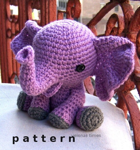 Baby Elephant-Instant Download Crochet Pattern-Toy by ...