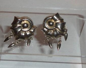 Silver tone Dafri Screw Back Earrings