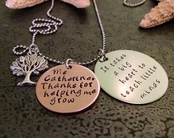 Teacher Appreciation Gift Teacher Christmas Gift Teachers It Takes a Big Heart to Teach Little Minds