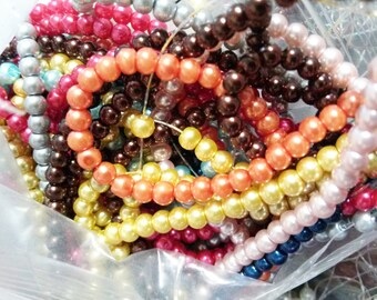 Wholesale Beads Bulk Beads Glass Pearls 4mm Beads Assorted Colors 20 Strands 4320 pieces PREORDER