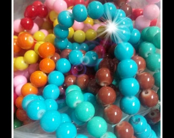 Bulk Beads Wholesale Beads 10mm Beads Glass Beads 10mm Glass Beads Assorted Beads Lot 1640 pieces PREORDER
