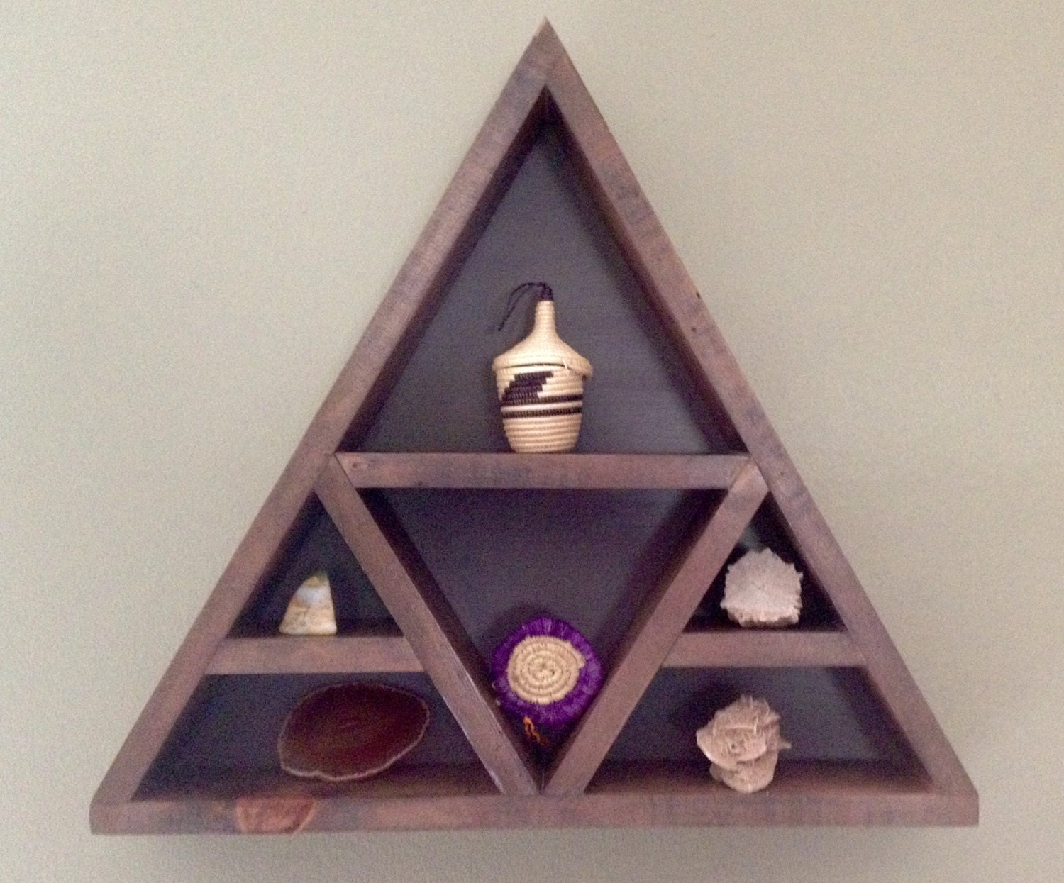 Custom triangle shelf by woodworksbysullivan on etsy - Triangular bookshelf ...