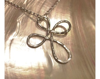 Infinity Cross Pendant on Sterling Silver Chain