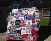 T Shirt Quilt, Custom Puzzle Design, Memory Quilt Custom Order Quilt You Pick Size - Using Your Shirts-DEPOSIT ONLY