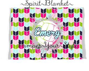 Volleyball Birthday Gift - Pick Your Colors - Graduation Gift - Throw Blanket - Personalized Blanket