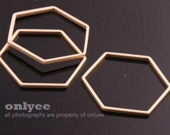 4pcs-17mm x 20mm x 1mm Matt Gold plated Brass Geometric honeycomb / hexagonal pendants,charms,Connectors, jewelry making(K059G)