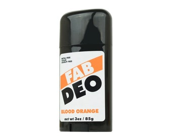 BLOOD ORANGE Natural Deodorant Deoderant Stick Vegan