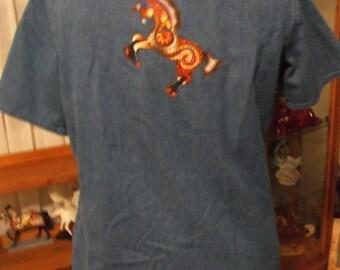horse denim shirt