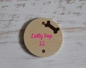 "Round Tile with Bone for Family Birthday Reminder Board....""Dog Birthday""....Pet Birthday....HAVENSPLACE"