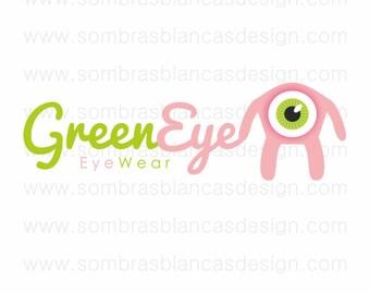 OOAK Premade Logo Design - Green Eye - Perfect for a sunglasses brand or a handmade toys shop