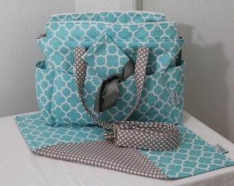 Chloe Deluxe Diaper Bag Set Premier Print Fabric by ShaLariCouture
