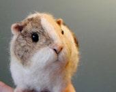 Needle Felted Guinea Pig, Handmade animal, Custom Made Pet Portrait - made to order