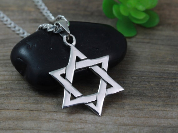 sterling silver star of david necklace shield of david