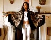 Sacred Geometry Arch Angel Wrap- Scarf- Skirt- Dress-100 Ways to wear it (black)