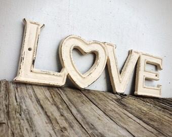 Kunst aan de muur vet 3d geometrische metalen hart - Shabby chique kamer ...