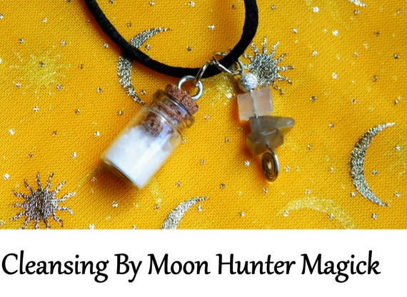 Cleansing Charm Bottle Necklace Chakra Cleansing Aura Cleansing